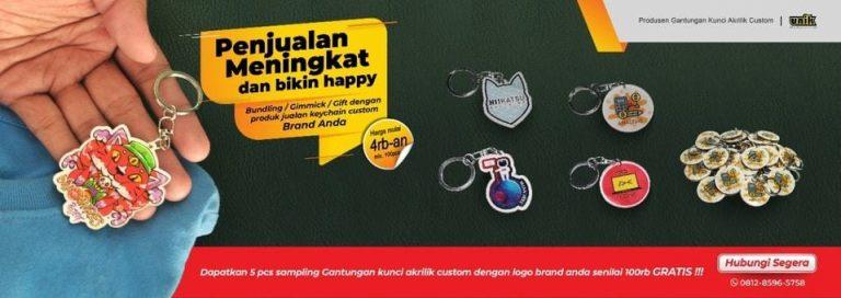 souvenir gantungan kunci akrilik